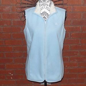 Brooks Brothers Blue Fleece Zip Up Vest Large